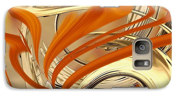 Galaxy Case featuring the digital art Leaking Color by Roy Erickson