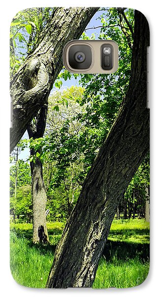 Galaxy Case featuring the photograph Lean On Me by Robyn King