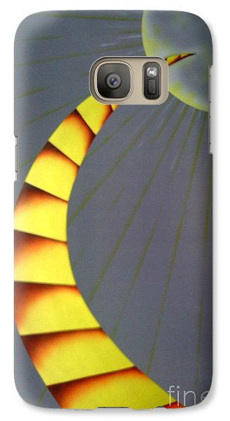 Galaxy Case featuring the painting Learning Curve by Kenneth Clarke