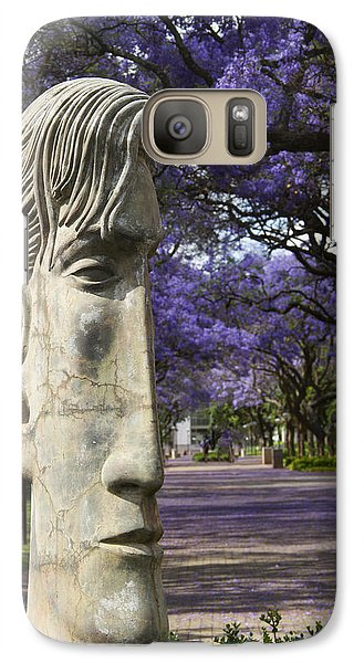 Galaxy Case featuring the photograph Learning To Love Purple by Taschja Hattingh