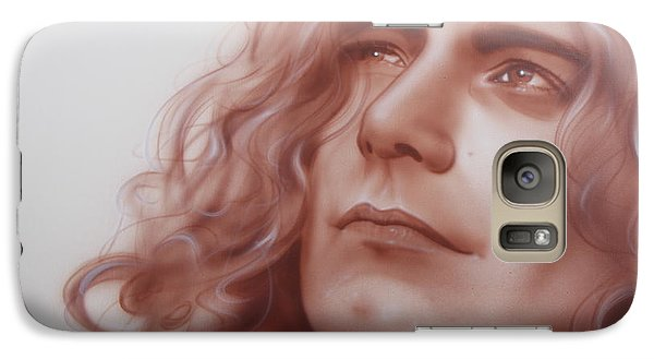 Robert Plant - ' Leaves Are Falling All Around ' Galaxy S7 Case by Christian Chapman Art