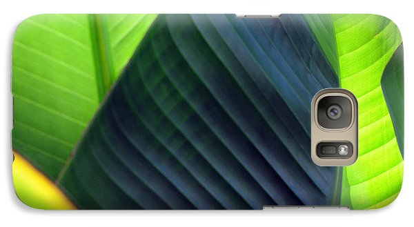 Galaxy Case featuring the photograph Leaves - Green by Haleh Mahbod