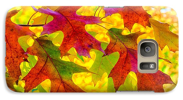 Galaxy Case featuring the photograph Leaves by Janis Knight