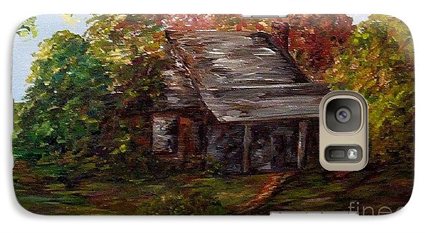 Galaxy Case featuring the painting Leaves On The Cabin Roof by Eloise Schneider