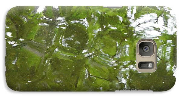 Galaxy Case featuring the photograph Leaves Reflected by Winifred Butler