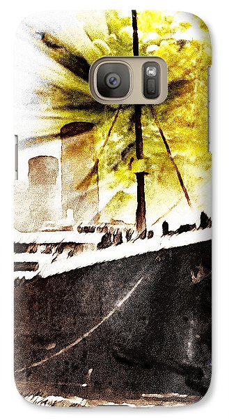 Galaxy Case featuring the digital art Leaving Ship by Andrea Barbieri