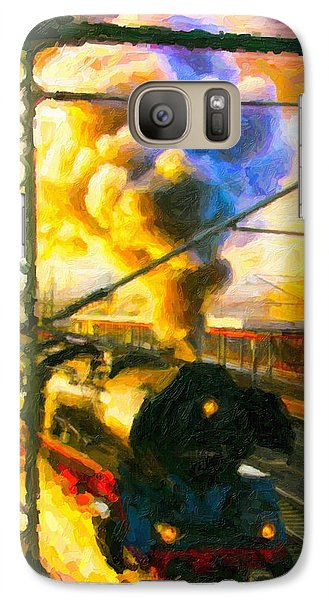 Galaxy Case featuring the digital art Leaving The Station by Chuck Mountain
