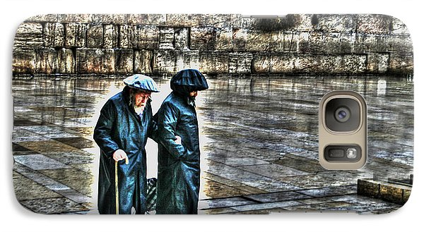 Galaxy Case featuring the photograph Leaving The Western Wall In Israel by Doc Braham