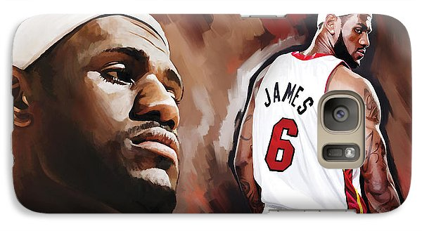 Lebron James Artwork 2 Galaxy S7 Case