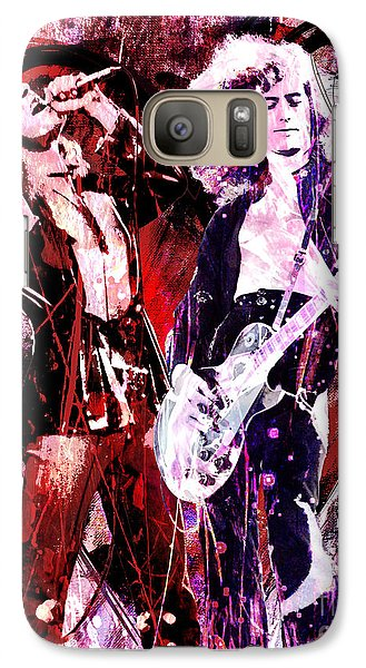 Led Zeppelin - Jimmy Page And Robert Plant Galaxy S7 Case by Ryan Rock Artist