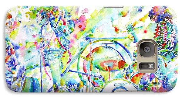 Led Zeppelin Live Concert - Watercolor Painting Galaxy Case by Fabrizio Cassetta
