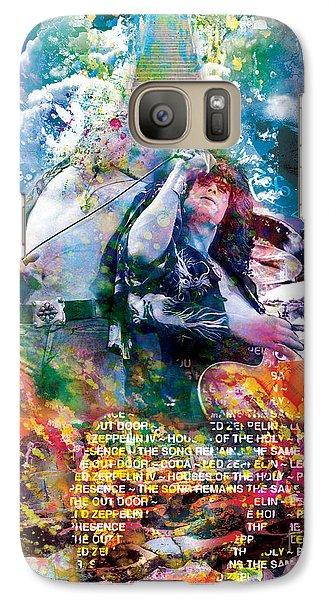 Led Zeppelin Original Painting Print  Galaxy S7 Case by Ryan Rock Artist