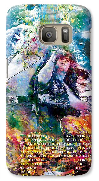 Led Zeppelin Original Painting Print  Galaxy Case by Ryan Rock Artist