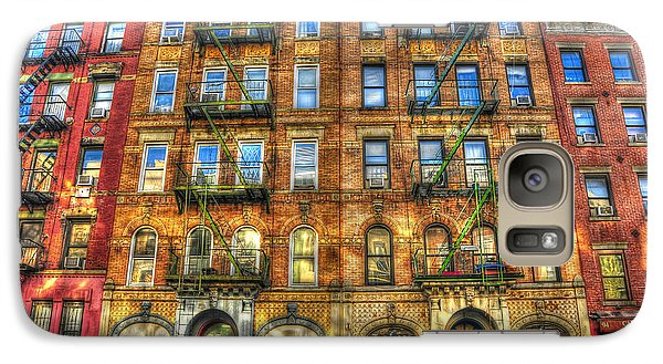 Led Zeppelin Physical Graffiti Building In Color Galaxy S7 Case by Randy Aveille
