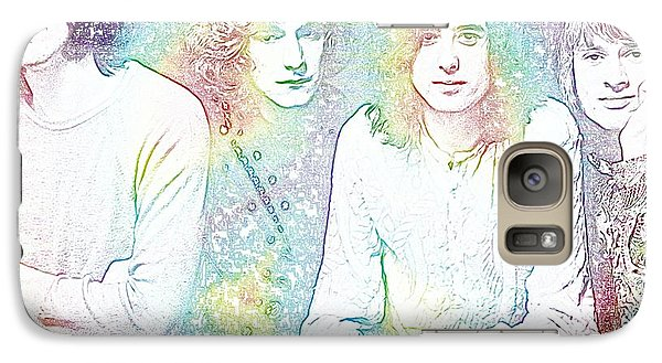 Led Zeppelin Tie Dye Galaxy S7 Case by Dan Sproul