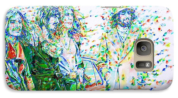 Led Zeppelin - Watercolor Portrait.2 Galaxy S7 Case by Fabrizio Cassetta