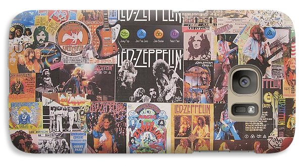 Drum Galaxy S7 Case - Led Zeppelin Years Collage by Donna Wilson