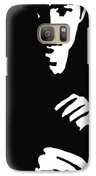 Galaxy Case featuring the drawing Lee Ready To Kick Some Ass by Robert Margetts