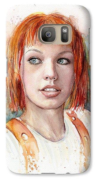 Leeloo Portrait Multipass The Fifth Element Galaxy S7 Case by Olga Shvartsur