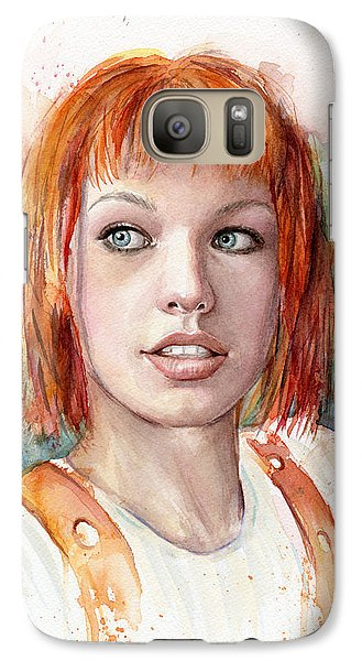 Leeloo Portrait Multipass The Fifth Element Galaxy S7 Case by Olga Shvartsur