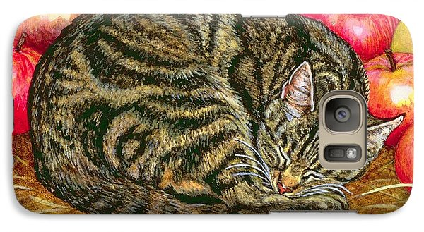Left Hand Apple Cat Galaxy Case by Ditz