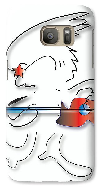 Left Handed Guitarist Galaxy S7 Case by Marvin Blaine