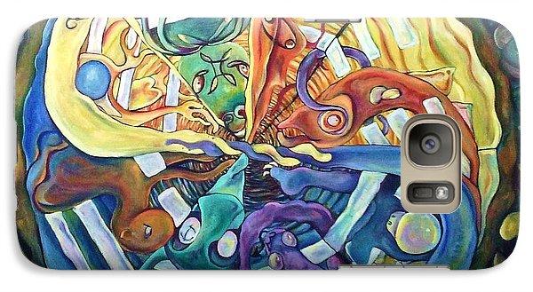 Galaxy Case featuring the painting Legacy Lifespan by Carol Rashawnna Williams