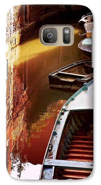 Galaxy Case featuring the photograph Legata Nel Canale by Micki Findlay