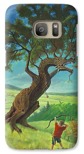 Galaxy Case featuring the painting Legendary Archer by Rob Corsetti