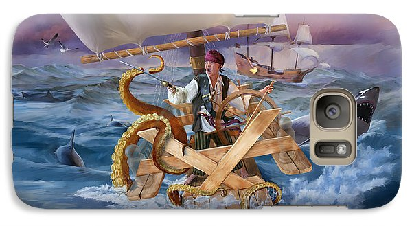 Galaxy Case featuring the painting Legendary Pirate by Rob Corsetti