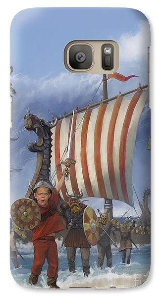 Galaxy Case featuring the painting Legendary Viking by Rob Corsetti
