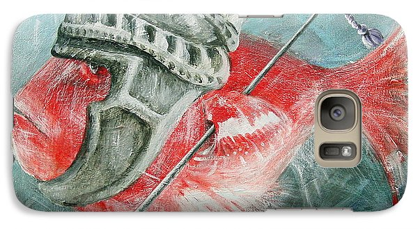 Galaxy Case featuring the painting Legionnaire Fish by Marina Gnetetsky