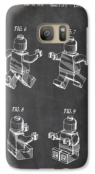 Galaxy Case featuring the digital art Lego Patent Drawing by Art Photography