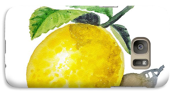 Lemon Galaxy S7 Case by Irina Sztukowski