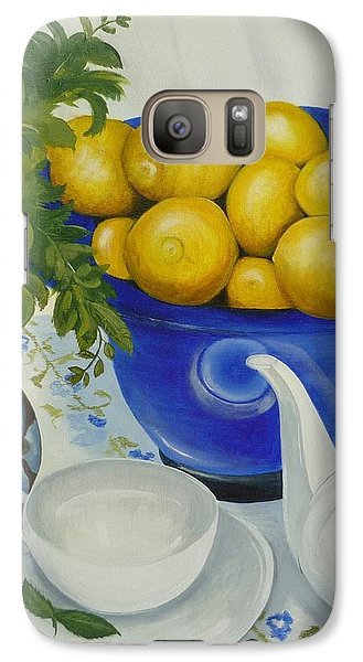 Galaxy Case featuring the painting Lemon Tea by Helen Syron