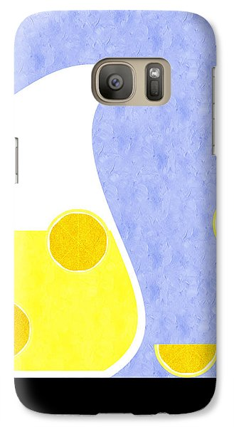 Lemonade And Glass Blue Galaxy S7 Case by Andee Design