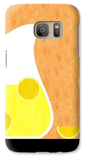 Lemonade And Glass Orange Galaxy S7 Case by Andee Design