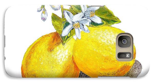 Lemon Galaxy S7 Case - Lemons And Blossoms by Irina Sztukowski