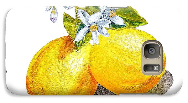 Lemons And Blossoms Galaxy Case by Irina Sztukowski