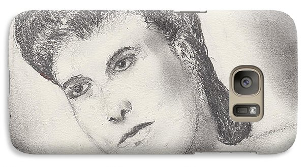 Galaxy Case featuring the drawing Lena Horne by David Jackson