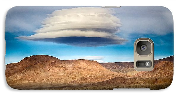 Galaxy Case featuring the photograph Lenticular Cloud Ft. Churchill State Park Nevada by Michael Rogers