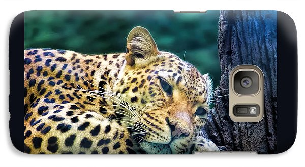 Galaxy Case featuring the photograph Leopard 1 by Dawn Eshelman