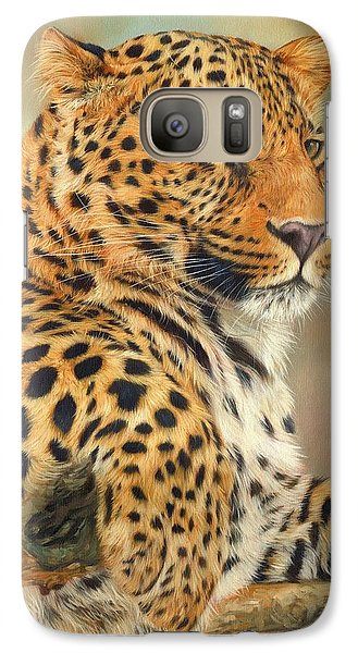 Leopard Galaxy S7 Case by David Stribbling