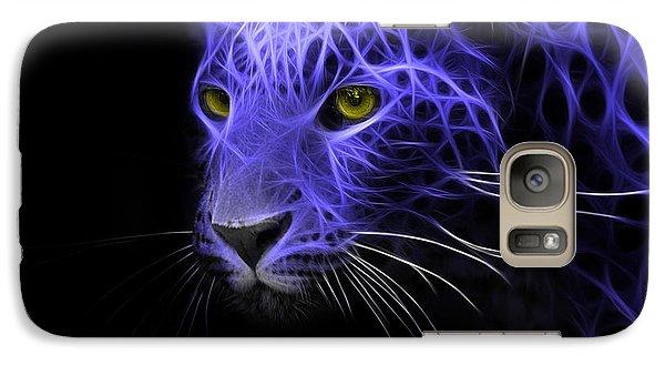 Galaxy Case featuring the digital art Leopard Fractal Blue by Bruno Santoro