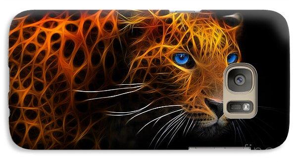 Galaxy Case featuring the digital art Leopard Fraktal by Bruno Santoro