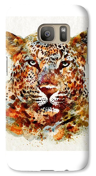 Leopard Head Watercolor Galaxy S7 Case by Marian Voicu