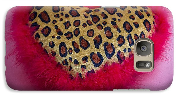 Galaxy Case featuring the photograph Leopard Heart by Patrice Zinck
