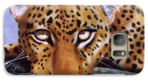 Galaxy Case featuring the painting Leopard In A Tree by Thomas J Herring