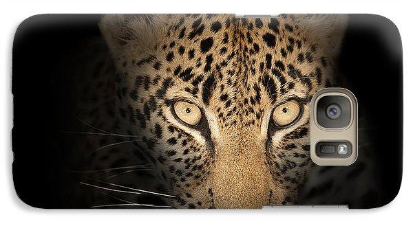 Leopard In The Dark Galaxy S7 Case