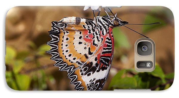 Galaxy Case featuring the photograph Leopard Lacewing Butterfly Dthu619 by Gerry Gantt